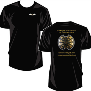 Armored Angel Black T-Shirts - Fight Domestic Violence in Illinois - Angel Apparel