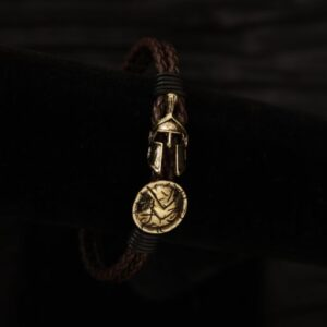 Spartan / Hoplite Mens Bracelet - Illinois Domestic Abuse Shop - Angel Jewelry